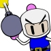 Bomberman from the classic series of video games by Husdon.