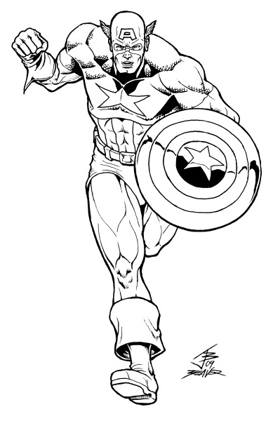 avengers coloring pages captain america - photo#30