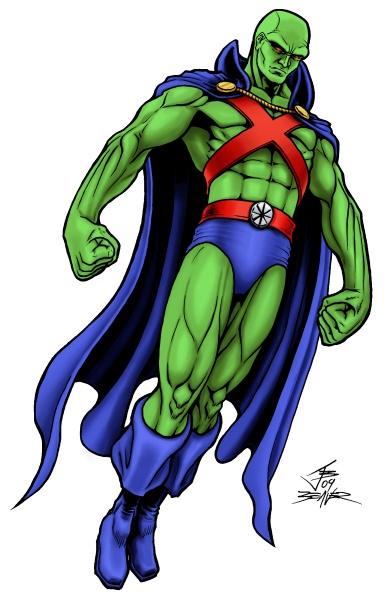Free Coloring Pages Of Martian Martian Manhunter