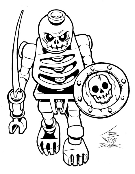 robot skeleton coloring pages - photo#1