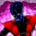 Nightcrawler from Marvel Comics teleporting in full color.
