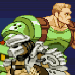 Pixel art tribute to Capcom's Alien vs. Predator game.