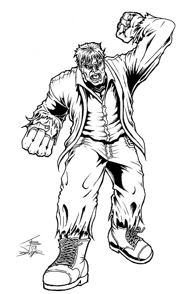 solomon grundy coloring pages - photo#16